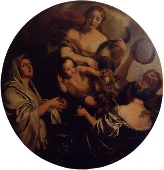 Allegory With An Infant Surrounded By Women